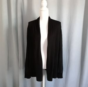 Vince Camuto open front cardigan sweater 3X black
